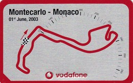 11119-GRAN PREMIO DI MONTECARLO(MONACO) - 1 GIUGNO 2003 - TARGHETTA IN METALLO DELLA VODAFONE-CIRCUITO PISTA - Automobile - F1