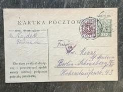 E15 Polen Poland Pologne Ganzsache Stationery Entier Postal P 32 Von Nowy Tomysl Nach Berlin - Ganzsachen