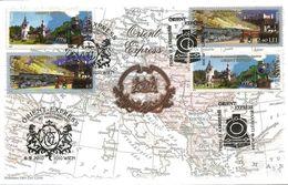 Romania 2010 FDC With Austria & Romania Stamps Orient Express - 1948-.... Republiken