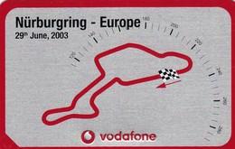 11120-GRAN PREMIO DI NURBURGRING(GERMANIA) - 29 GIUGNO 2003 - TARGHETTA IN METALLO DELLA VODAFONE-CIRCUITO PISTA - Automobilismo - F1
