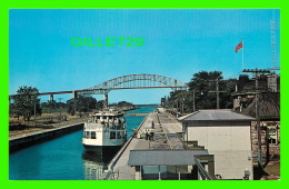 SAULT STE MARIE, ONTARIO - SIGHTSEEING CRUISE BOAT IN THE CANADIAN LOCKS - PUB. BY SAULT NEWS SERVICE - - Ontario