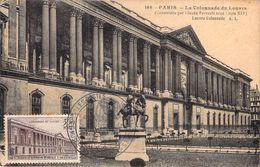 FRANCE CARTE MAXIMUM NUM.YVERT 780  LE LOUVRE COLONNADE - Cartoline Maximum