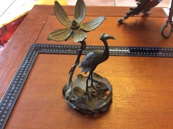 Pied De Lampe  En Bronze Porte Montre Gousset - Unclassified