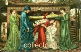 """AK (etwa 1910) Gemälde Von G. Rossetli """"Dantes Traum"""". Stengel Verlag - Schilderijen"""