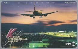 JP.- Japan, Telefoonkaart. Telecarte Japon. KANSAI INTERNATIONAL AIRPORT. - NTT - Avions