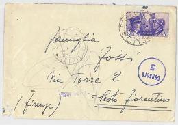 LETTERA VIAGGIATA 1941 VERIFICATA CENSURA AFFRANCATA ITALO GERMANICA (SX112 - 1900-44 Vittorio Emanuele III