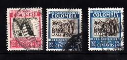 Colombia 1932 Mi Nr 331 + 333 ; Koffie En Bananen - Colombia