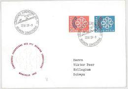 LETTERA SVIZZERA VIAGGIATA 1959 EUROPA FDC (SX193 - FDC