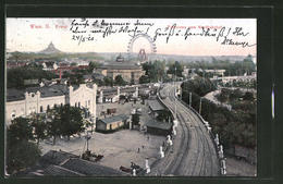 AK Wien, Panorama Des Wiener Prater Mit Riesenrad, Blick Vom Nordbahnhof - Feiern & Feste