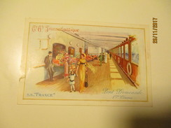 SS FRANCE TRANSATLANTIQUE ,  PROMENADE 1ST CLASS , OLD POSTCARD , 0 - Dampfer