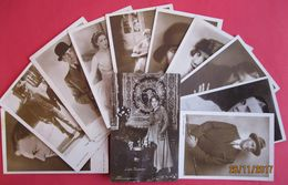 Lot 11 Old Postcards - Popular Actors, Early 1930 - Cartes Postales