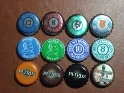 Belgique - Lot De 12 Capsules De Bières Différentes - Bière