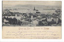 18241 - Gruss Aus Biel Souvenir De Bienne Circulée En 1898 - BE Berne