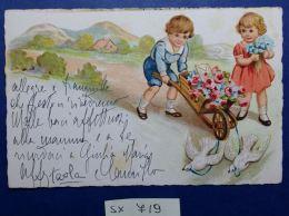 CARTOLINA VIAGGIATA 1935 BIMBI CON CARIOLA (SX719 - Taferelen En Landschappen