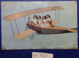 CARTOLINA VIAGGIATA 1918 BIMBE SU AEREO (SX731 - Taferelen En Landschappen