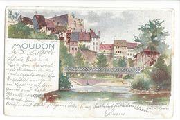 18242 - Moudon Circulée En 1900 - BE Berne