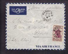 ENVELOPPE INDOCHINE 1939 HANOÏ RP TONKIN PAR AVION Timbre Exposition San Francisco Postes Indochine 1939 39 Cents - Indocina (1889-1945)