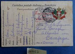 CARTOLINA IN FRANCHIGIA 29 REGG ARTIGLIERIA (SX1027 - Franchigia
