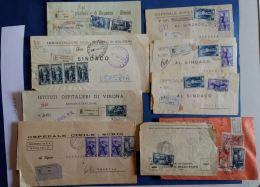 LOTTO 9 LETTERE DA OSPEDALI AFFRANCATURA ITALIA AL LAVORO (SX1166 - 6. 1946-.. Repubblica