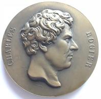 Médaille  Bronze. Charles Rogier. Centenaire D L'enseignement Moyen De L'état 1850-1950. L. Wiener. 70 Mm - 180 Gr - Firma's