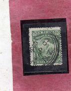 NEW ZEALAND NUOVA ZELANDA 1901 WHITE PAPER MT. COOK HALF PENNY 1/2p GREEN USATO USED OBLITERE' - Used Stamps