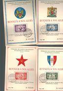 Luxembourg Série De 4 Carts De La Libération De 1945 - Luxembourg