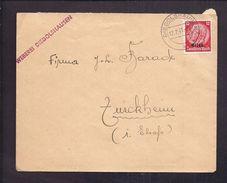 ENVELOPPE COMMERCIALE TISSAGE 12.2. 1941 Alsace Elsaß WEBEREI Diedolshausen Timbre Deutsches Reich - Alsazia-Lorena