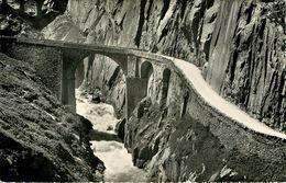 Suisse - Swiss - Uri - Die Gotthardpass - Strasse Bei Der Teufelsbrucke - Bon état Général - UR Uri