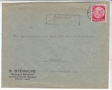 """Landpoststempel """"HOHENHOLZ über Stettin 1"""" Fernbrief - Deutschland"""