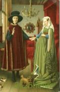 """Old Postcard (about 1910)  Jan Van Eyck  """"Flemish Merchant And Lady"""". - Peintures & Tableaux"""