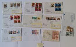 LOTTO 10 BUSTE VATICANO AFFRANCATE COMMEMORATIVE-SERIE (SY72 - Lettres & Documents