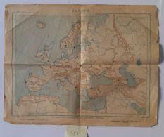 CARTA GEOGRAFICA 1951 IST. GEOGRAFICO (SEGNI DEL TEMPO) (SY75 - Mappe