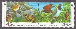 New Zealand 1993 WWF - Fauna, Frog, Birds MNH - New Zealand