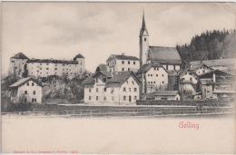 AK - Salzburg - Golling - Ortsansicht Mit Remise - Alten Post- 1900 - Golling