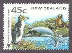 New Zealand 1993 WWF - Fauna, Sea Life, Dolphin, Penguins MNH - Nieuw-Zeeland