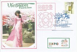 UNIVERSAL EXPO MILANO 2015.  Pavillon Du VIETNAM,  Lettre Du Pavillon Vietnam, Avec Timbre Vietnamien (RARE) - 2015 – Milan (Italy)