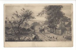 18255 - Young Pinx Photogravure Chevaux Poules Ferme Series 6087 - Peintures & Tableaux