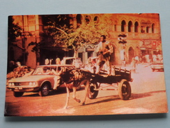 DONKEY CART, Karachi, Pakistan ( Photocard - Afzal Sores By Air Mail ) Anno 19?? ( Zie Foto's Voor Details ) ! - Pakistan