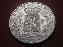 Belgique - 5 Francs 1871 9872 - 1865-1909: Leopold II