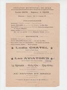 AFFICHETTE PROGRAMME ANCIEN Du THEATRE MUNICIPAL à SFAX En 1914 - SOIREE CABARET - Affiches