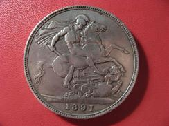 Grande-Bretagne - UK - Crown 1891 Victoria 9876 - 1816-1901 : Frappes XIX° S.