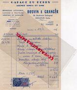 36- ISSOUDUN- RARE FACTURE GARAGE DU BERRY-BOSVIN & GRANGER-AGENCE SIMCA UNIC-38 BD.STALINGRAD-1956 - Cars