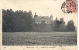 604. CHAMBLAY - CHATEAU DE CLERVANS *** AVANT LES TRAVAUX D'AGRANDISSEMENTS  **AFFR LE 24-8-1904 + CACHET AU VERSO . 2 S - Frankreich