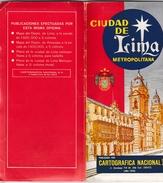 Lima Peru Pérou - Grand Plan 1982 Avec Index Des Rues - World