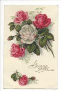 18258 - Bonne Fête Bouquet De Roses En Relief - Fêtes - Voeux