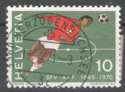 Switzerland 1970 Used Sport Football Soccer - Oblitérés