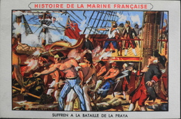 Très Belle Chromo. Offert Par LION NOIR Cirage Créme - HISTOIRE De La MARINE FRANCAISE N° VI SUFFREN à La Bataille - TBE - Bateaux