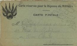 CORRESPONDANCE  MILITAIRE 1914  SOLDAT COSTES HENRI  ENVOYEE A MME COSTES MARCHAND DE VINS A BOIS COLOMBES - Poststempel (Briefe)