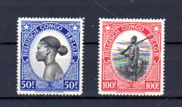 1942    Indigènes, Soldats,   247 / 248**, Cote 27,50 €, - Belgisch-Kongo