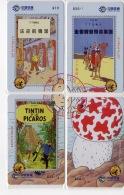 Télécartes Tintin - Puzzle De 4 Cartes - BD